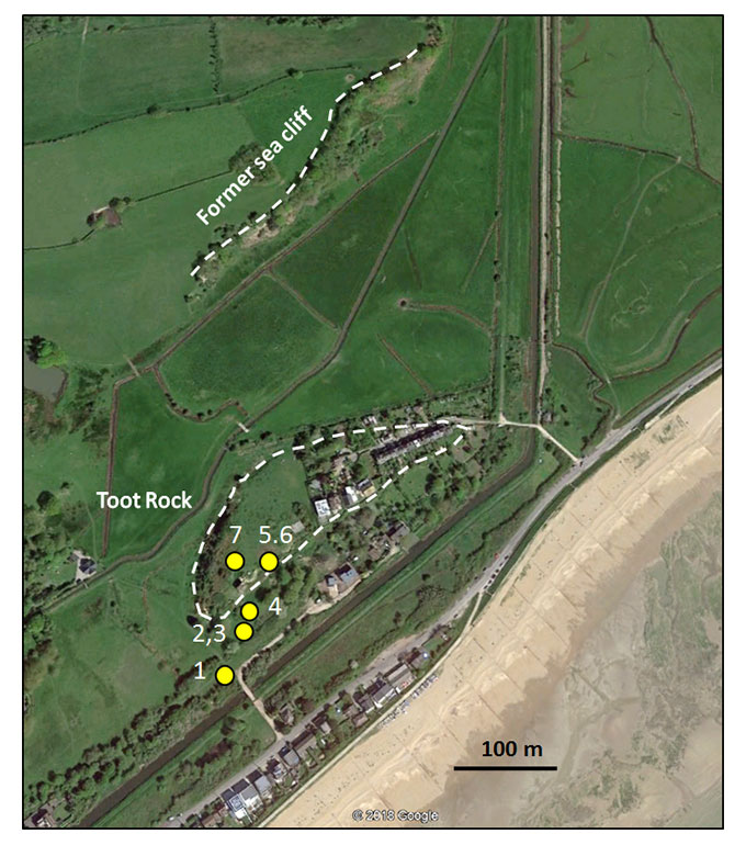 East Sussex Local Geological Sites - Toot Rock Aerial